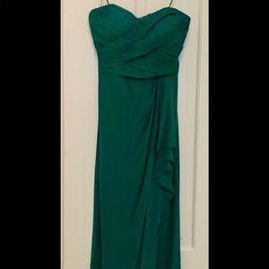 Badgley Mischka emerald prom/formal dress